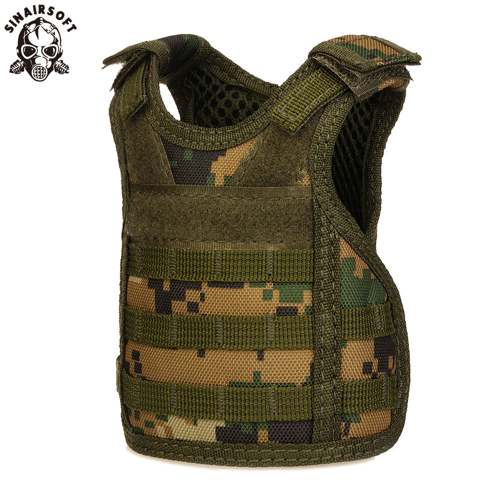 SINAIRSOFT Tactical Premium Beer Military Molle Mini Miniature Hunting Vests Beverage Cooler adjustable shoulder straps LY2074