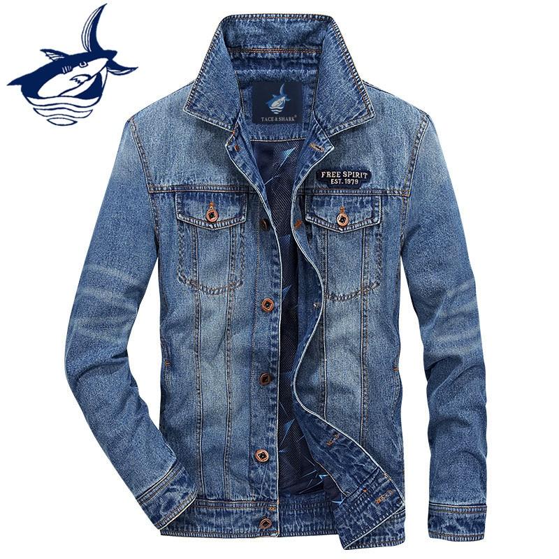Nouvelle mode et classique hommes vêtements 2018 automne Denim veste hommes marque Tace & requin Jeans veste européenne Cowboy Style Denim manteau-in Vestes from Vêtements homme    1