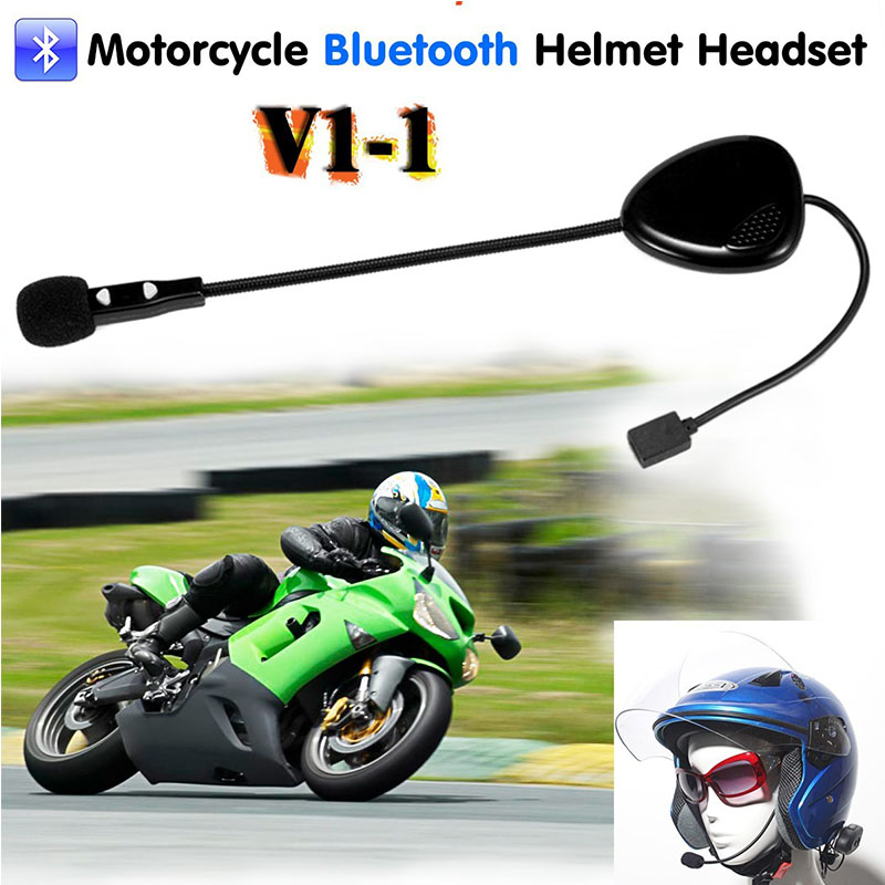 sale bluetooth motorcycle helmet headset music call handsfree for motorcycle rider skier single. Black Bedroom Furniture Sets. Home Design Ideas