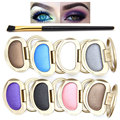 2Pcs\set 8 Colors Eye Shadow + Brush Makeup Shimmer Matte Eyeshadow Eyeshadow Palette Cosmetic Makeup Set Nude Eye Shadow
