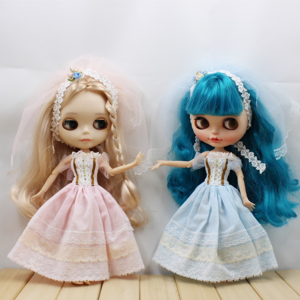 Neo Blythe Doll Wedding Dress With Rabbit Headdress 2