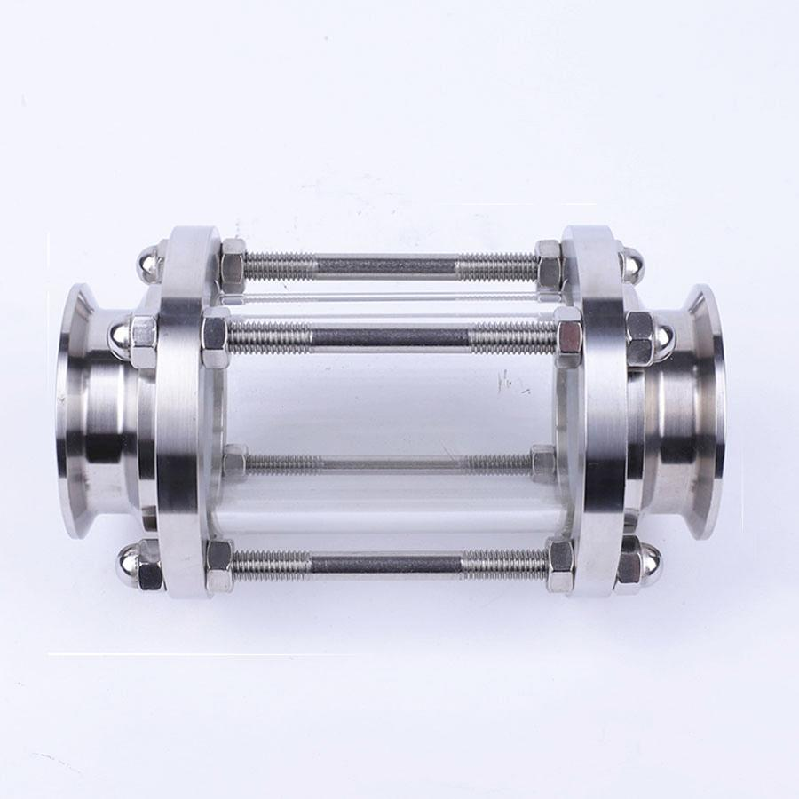Brewing Diopter 3 Tri Clamp x 76mm Pipe OD SUS 304 Stainless Steel Sanitary Flow Sight Glass Homebrew Beer
