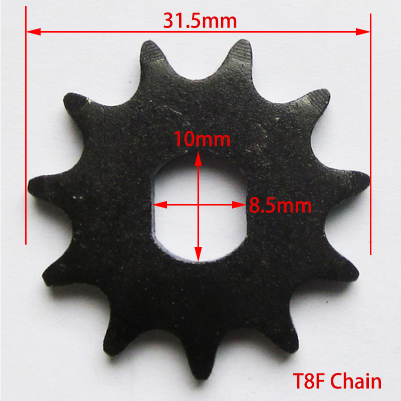 11 Tooth Sprocket Pinion Gear fit T8F Chain Unite Motor 1020 Electric Scooter