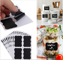 36pcs Reusable Chalkboard Labels with Erasable White Smooth Liquid Chalk Marker - Premium Stickers for Jars