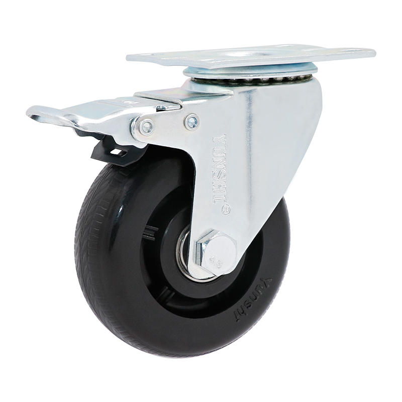 Home Improvement 4x75mm New Heavy Duty Rubber Swivel Castor Wheels Brake Trolley Furniture Caster Drop Shipping Punctual Timing