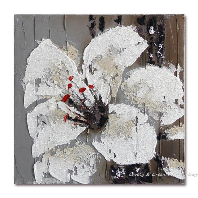 Handmade Wall Art White Lilies Home Decoration Landscape Flower Oil Painting On Canvas The Sitting Room The Bedroom Home Decor