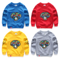 Boy child sports sweatshirt 2017 spring and autumn 100% cotton child long-sleeve top cartoon print casual boys sweatshirts