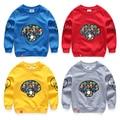 Boy child sports sweatshirt 2017 spring and autumn 100% cotton child long-sleeve top cartoon print casual boys sweatshirts