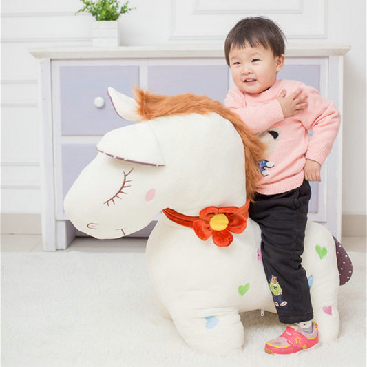 1pc 3055cm Cute Couple Horse Plush Toy Stuffed Kawaii Soft Animal