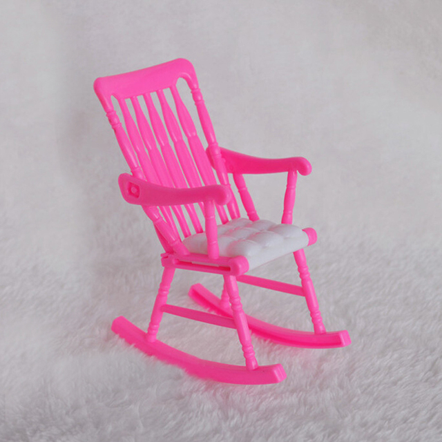 1 PCS Fashion Pink Nursery Chair Baby High Chair 1/ 6 For Barbie Kelly  Dollu0027s