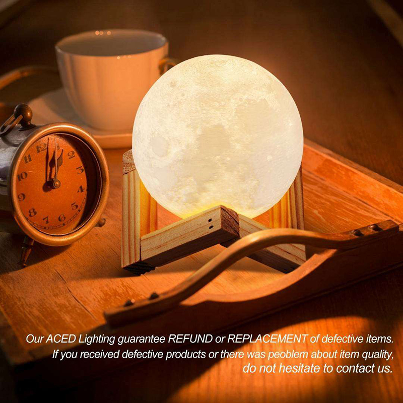 3D Print Moon Lamp Night Lights Touch Co