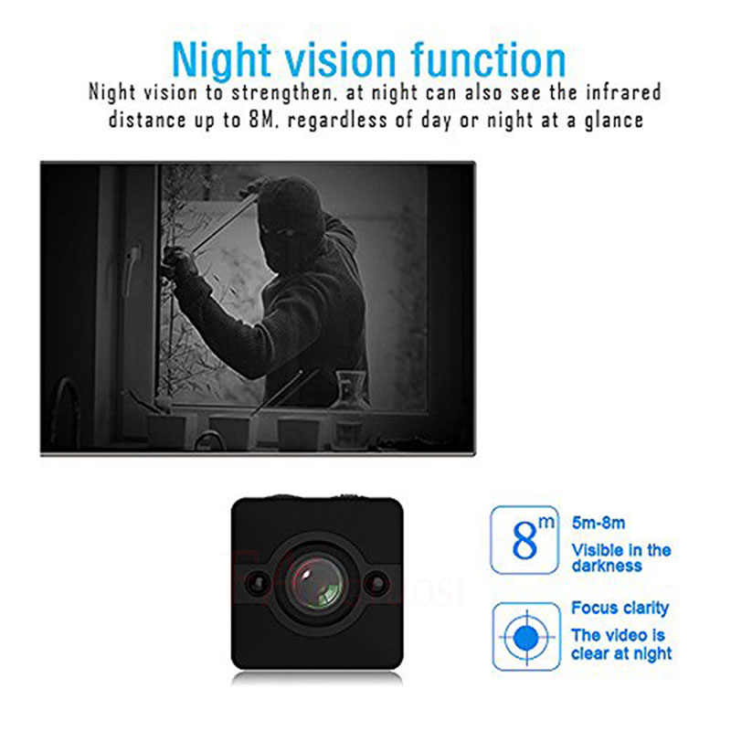 FANGTUOSI HD Waterproof  Mini Camera SQ12 1080P Infrared Night Video Recorder Sport Digital Camera Support TF Card Camcorder DVR