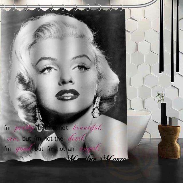 Best Nice Custom Marilyn Monroe Shower Curtain Bath Waterproof Fabric For Bathroom More Size Wjy