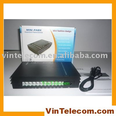 SOHO PBX / Small PABX -for small businss solution-fast free Shipping pabx pbx exchange telephone switch system control exchange 2 x 8 extensions for small office home office soho