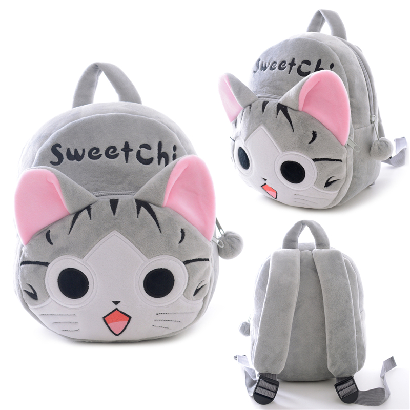 Lovely Plush Backpacks Cartoon Chi's Cat Plush Flip-open Cover Kindergarten Backpack for Gifts Soft Bag for Children Kids Girls
