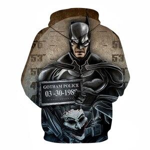 Image 2 - Film süper kahraman Batman Superman demir dev Hulk Hoodie erkek/kadın 3D baskı moda Harajuku tarzı sokak kazak New2019