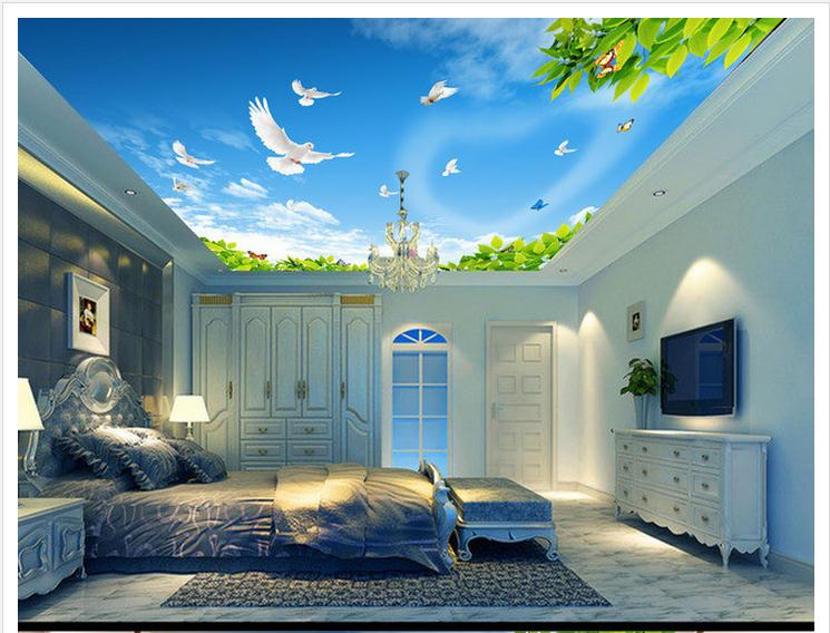 Popular sky roof buy cheap sky roof lots from china sky for 3d roof wallpaper