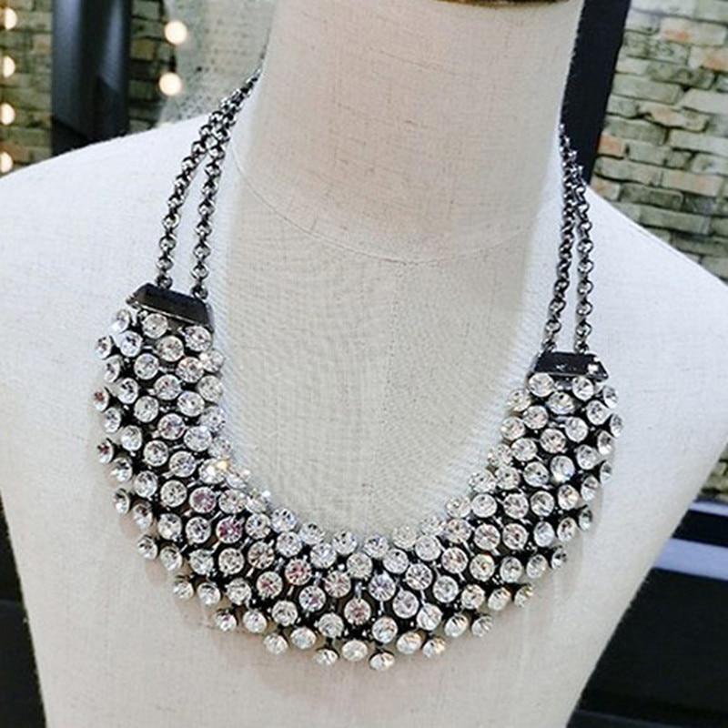 Kymyad Collier Femme Trendy Kristal Statistikası Boyunbağı Asqı - Moda zərgərlik - Fotoqrafiya 3