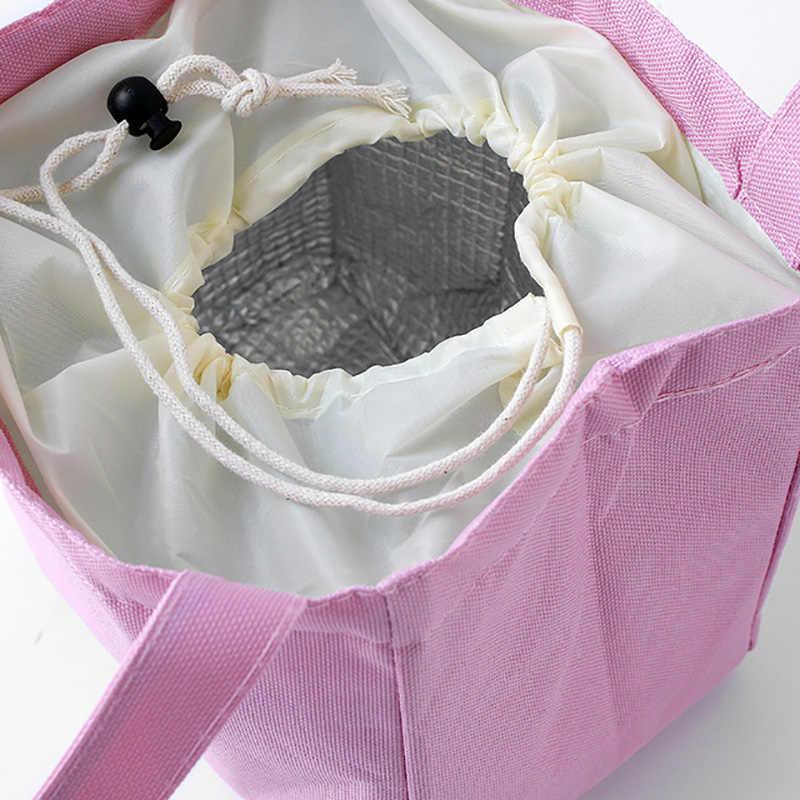 עמיד למים תרמית תיק קיבולת גבוהה אלומיניום רדיד בד תיק נייד פיקניק מזון Cooler תיק פשוט שקיות הצהריים עבור בנות