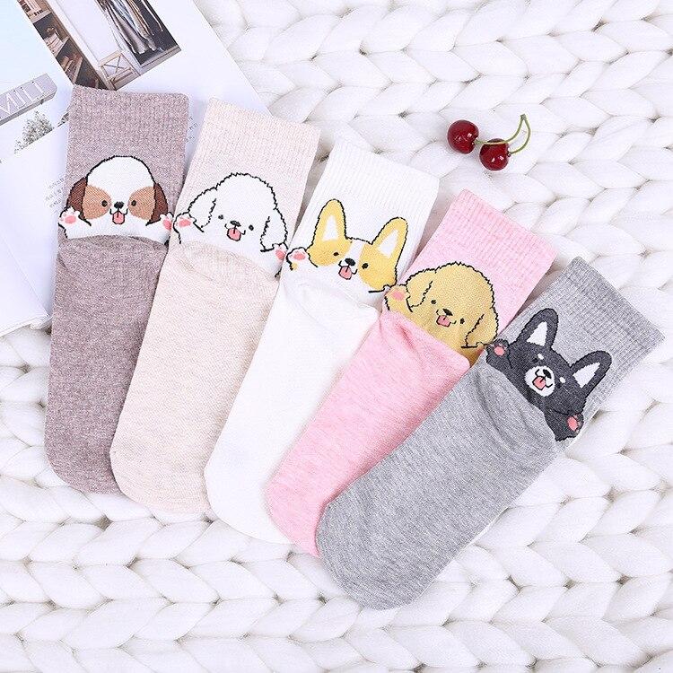 Women Cute   Socks   Harajuku Funny Kawaii Winter Japanese Streetwear 2018 Autumn Girl Fashion High Quality Christmas Ankle   Socks