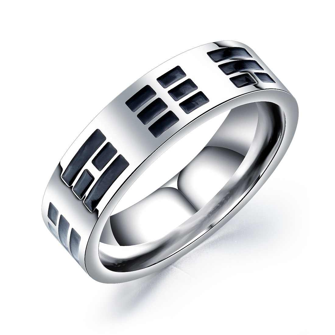 FATE LOVE Brand Male Men Rings Silver Color 316L Stainless Steel Hiqh Polish Fashion Jewelry US size 7 8 9 10 11