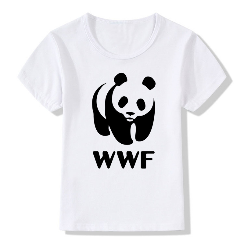 Glorious 2018 Children Wwf/wtf Panda Funny T Shirt Baby Boys And Girls Casual Summer Tops Kids Animal Clothes,hkp653 Convenient To Cook