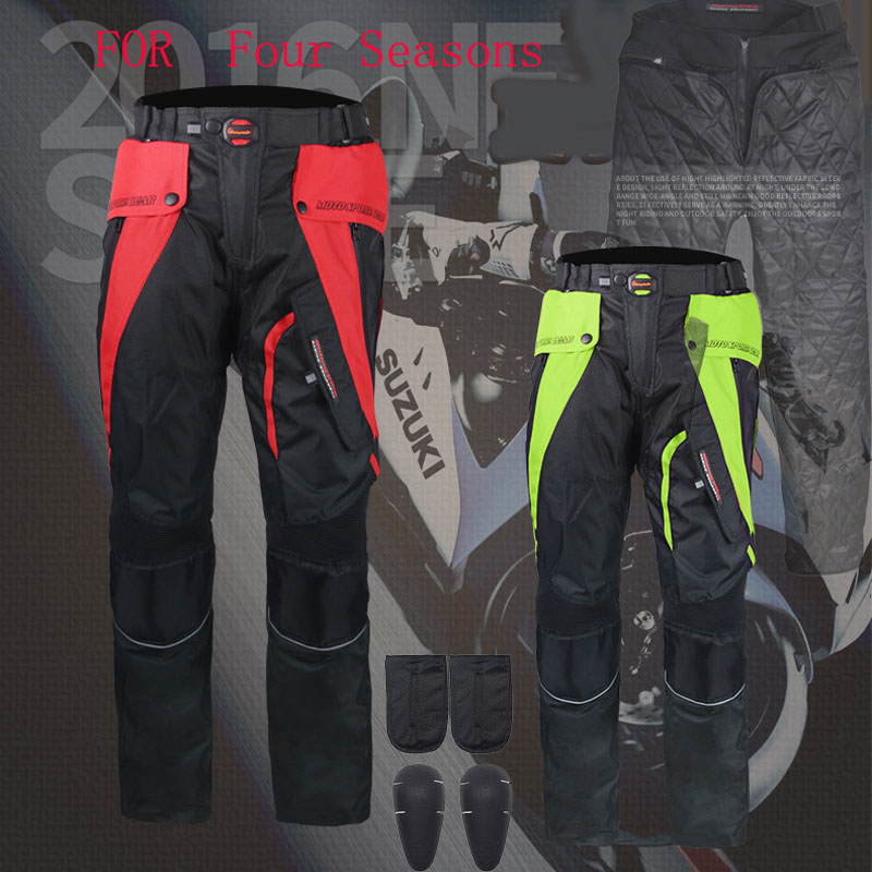 Four seasons Riding Tribe motorcycle pants with knee hip pad ,Moto motocross trousers body armor M L XL 2XL 3XL 4XL 2xl 3xl