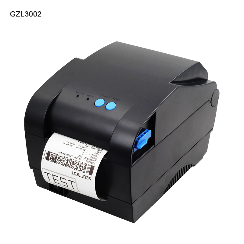 GZL3002 80m Printer Thermal barcode label printer Sticker Paper USB Label printer Qrcode printer can print 20mm-82mm width paper рубашка billionaire рубашка