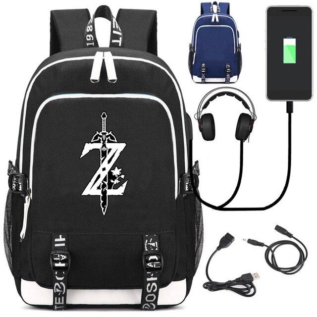 Аниме Рюкзак Легенда о Зельде USB зарядка в подарок 2