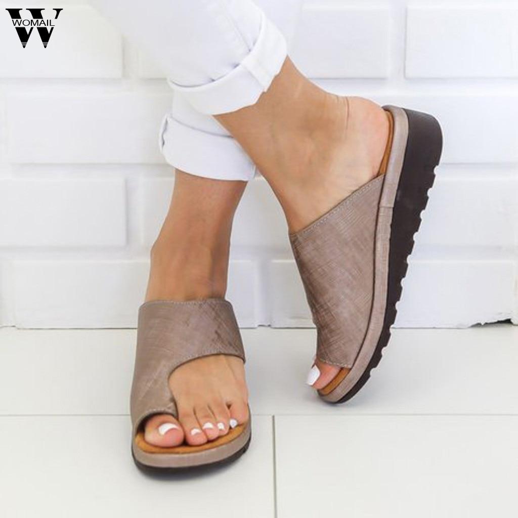 Women Slipper Sandals Shoes Flip-Flops Wedges Beach-Slides Female Roman Fashion Summer