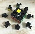 Ciclone meninos 3 x 3 x 3 Magic Cube velocidade enigma Professional Cubo mágico torção primavera brinquedos educativos presentes de natal preto