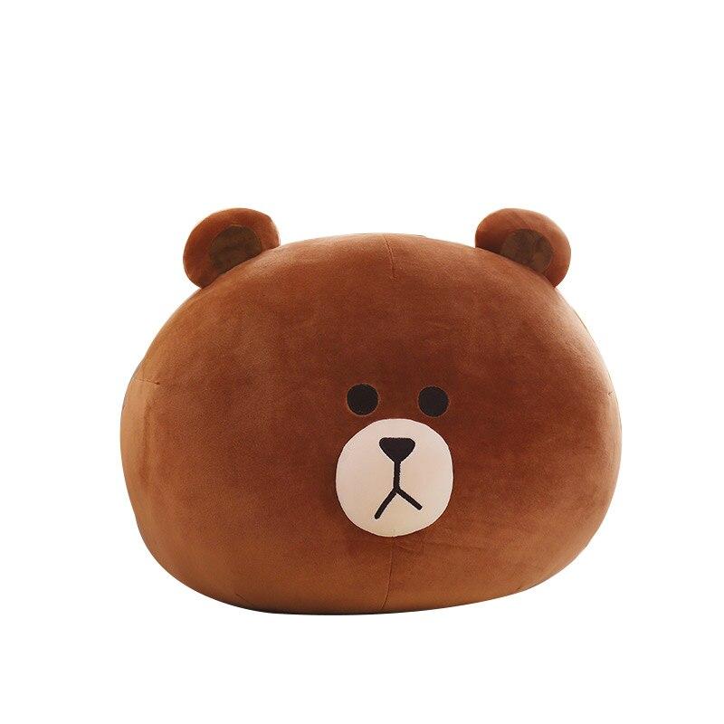 Corée mignon grande taille ours brun en peluche poupée SALLY poulet oreiller mignon doux trucs oreiller jouets kawaii pour petite amie cadeau d'anniversaire