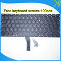 "Brand New UK keyboard+100pcs keyboard screws For MacBook Air 13.3"" A1369 A1466 2010-2015 Years"