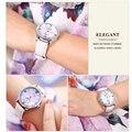 Часы с кристаллами и алмазами для женщин  модные многофункциональные кварцевые часы для отдыха с кожаным ремешком  2019