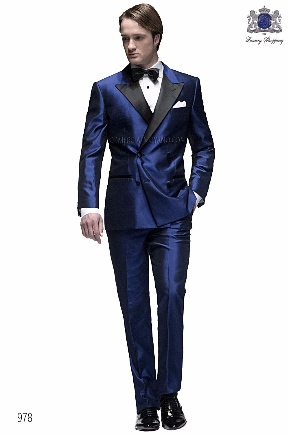Latest Coat Pant Designs Italian Navy Blue Satin Men Suit Prom Suits Slim Fit 3 Piece Groom Tuxedo Custom Blazer Terno Masculino