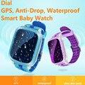DS18 Водонепроницаемый Умный Ребенок Часы GPS Tracker Для Детей 2016 Wi-Fi SOS Анти Потерял Расположение Finder Smartwatch Для IOS Android PK Q50