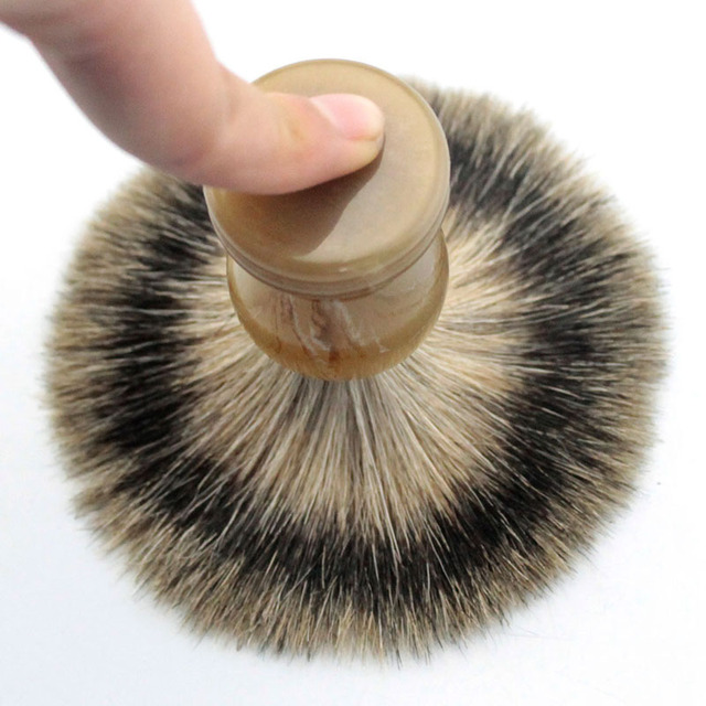 Men Shaving Brush Imitation Agate Handle Beard FINEST Badger Hair Brushes Pincel Brocha De Afeitar
