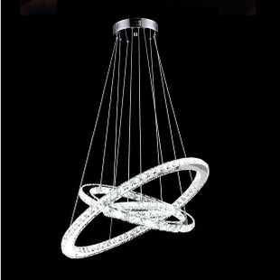 Diamond ring crystal chandelier lighting modern led dining room diamond ring crystal chandelier lighting modern led dining room pendant lamp 3 rings 705030cm free shipping pl292 in chandeliers from lights lighting on mozeypictures Gallery
