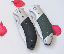 2 Options G10+steel Folding Pocket Knife Hunting Knife Survival Knives Camping EDC Tools