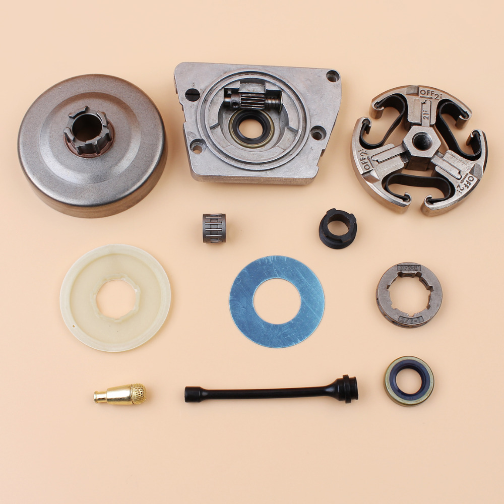 Clutch Drum Sprocket Rim Oil Pump Dust Cover Kit For HUSQVARNA 268 272 XP 61 66 266 Chainsaw 501 51 25 01 oil pump with 2pcs worm gear wheel fits husqvarna 61 266 268 162 272 replace 501512501 501513801