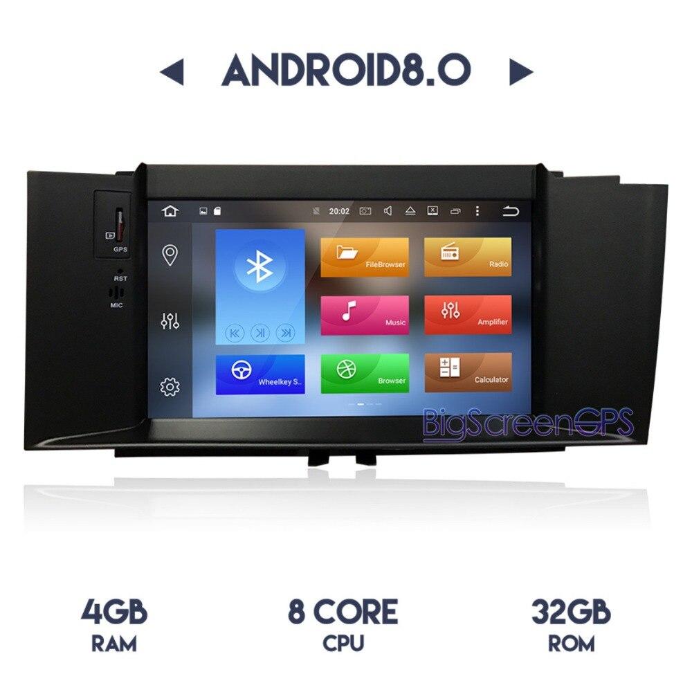 7 pouce Date Android 8.0 7.1 Voiture Lecteur DVD GPS Navi Pour Citroen C4 C4L DS4 2012-2016 Stéréo radio Multimédia Satnav Headunit