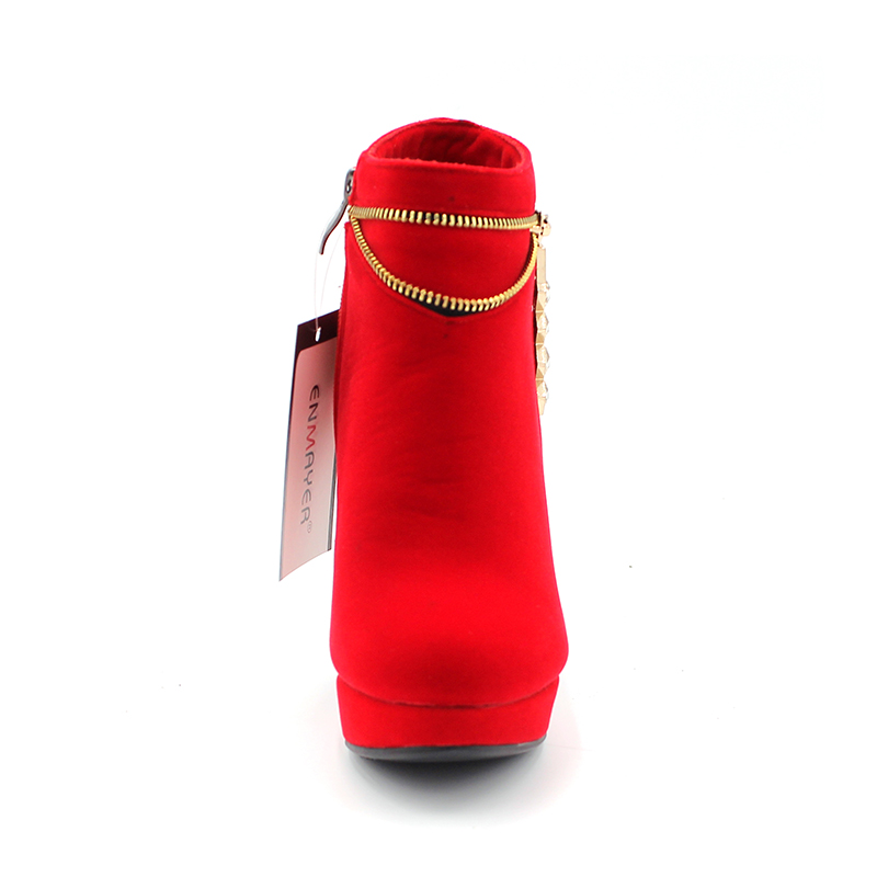 ENMAYER Botas de otoño Tacones cuadrados de moda para mujer Botines - Zapatos de mujer - foto 3