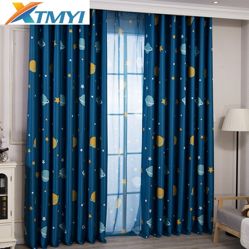 Window Treatments Home & Garden American Style Red And Blue Plaid Planets Sheer Curtains For Childrens Room Tulle For Kids Bedroom Living Room Finished Custom Online Shop