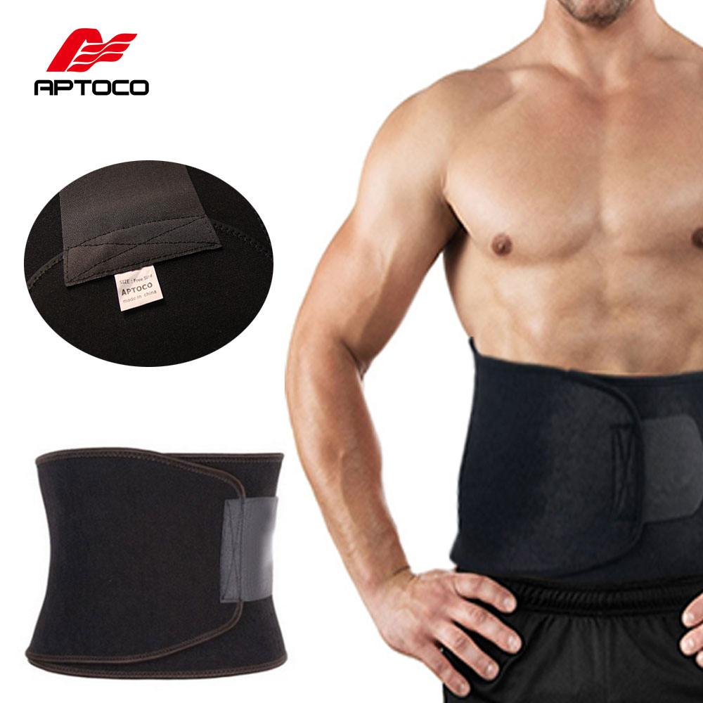 APTOCO Justerbar Talje Trimmer Motion Sweat Belt Fat Burner Shaper Slankning Tabe Vægt Body Burn Cellulite for Mænd Kvinder