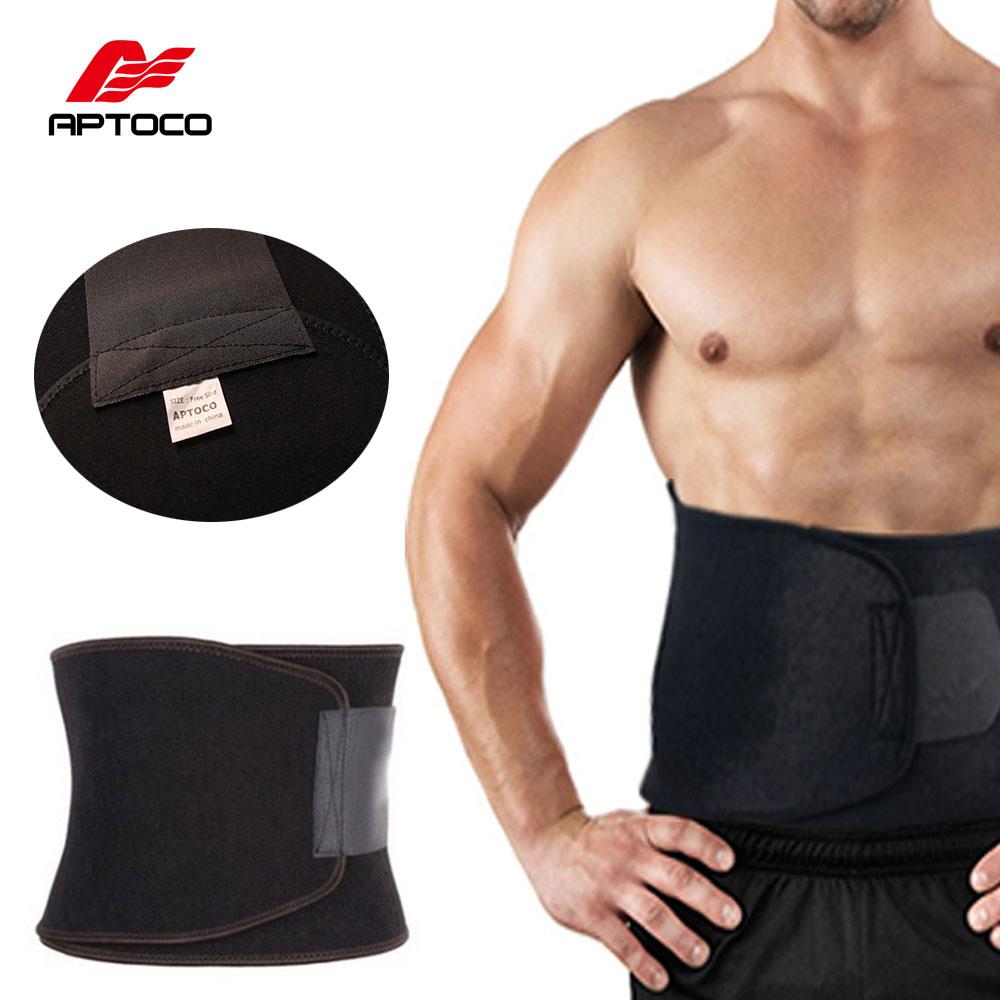 APTOCO ajustable cintura ejercicio sudor cinturón quemador de grasa Shaper Slimming perder peso cuerpo quemar la celulitis para hombres y mujeres