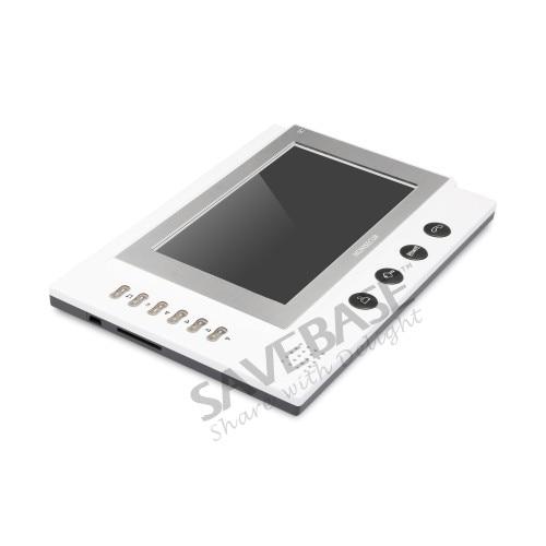 HOMSECUR 7 Hands-free Video Door Phone Intercom System+LCD Color Screen (TC031 +TM701R-W)
