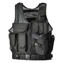 2016 Military Tactical Vest Army Hunting Molle Airsoft Vest Outdoor Body Armor Swat Combat Painball Black Vest for Men