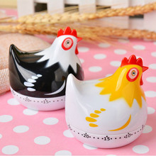 Cute Chicken Kitchen Timers Cooking Digital Timer Cartoon Plastic Cooking Hours Mechanical Timer 60 Minutes Digital Timer Tool e74 cute 60 minute ladybug timer easy operate kitchen useful cooking timer ladybird shape