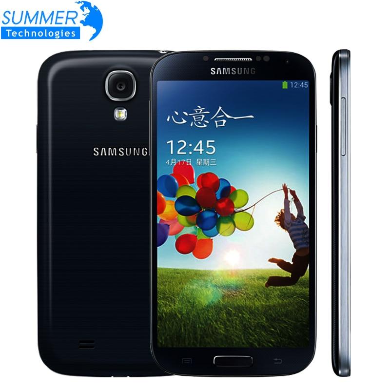 Original Unlocked Samsung Galaxy S4 i9500 i9505 Quad Core Cell Phones WCDMA LTE 5.0 '' 2GB RAM 16GB ROM Mobile Phone