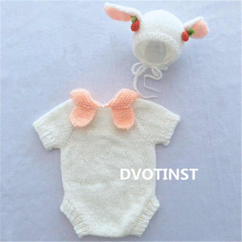 Crochet Tricot Costume Photographie Prop Outfits Indian Cap Babys